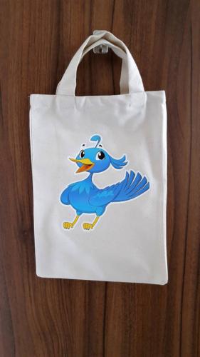Detská taška 23 x 30 cm vtáčik