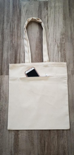 taška so zipsom a uložným priestorom, 38 x 42 cm